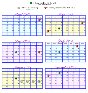 TETA Emerald Event Schedule-2015