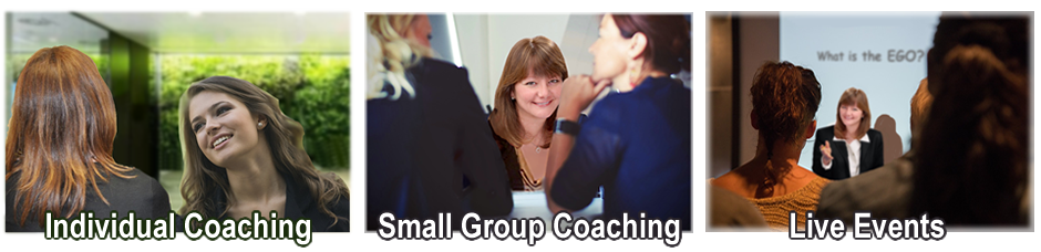 Individual Coaching, Small Group Coaching, Business Coaching and Live Events