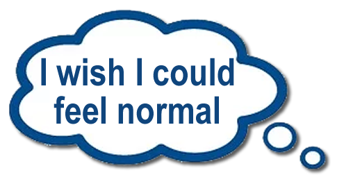 I wish I could feel normal