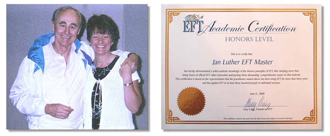 Jan Luther-Gary Craig-EFT Masters Certificate